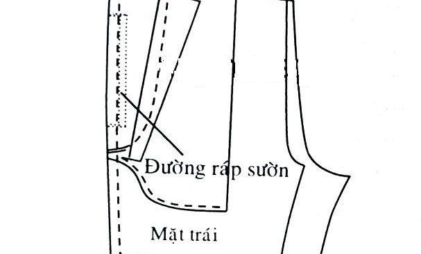Các bước may túi dọc kiểu 1