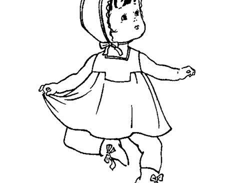 Cắt may áo đầm cổ vuông có cầu vai và cầu ngực