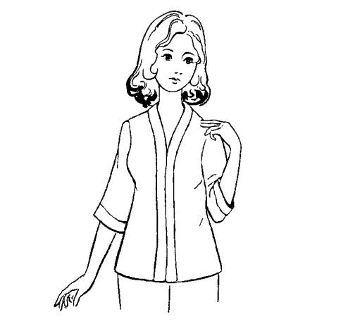 Hướng dẫn cắt may áo tay ráp cổ bà lai