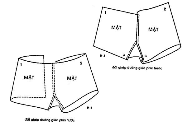 Hướng dẫn cắt may quần đùi thể thao
