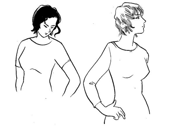 Học cắt may tay áo căn bản nách cong