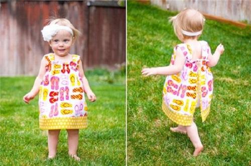 Cắt may váy cho bé gái tuyệt đẹp
