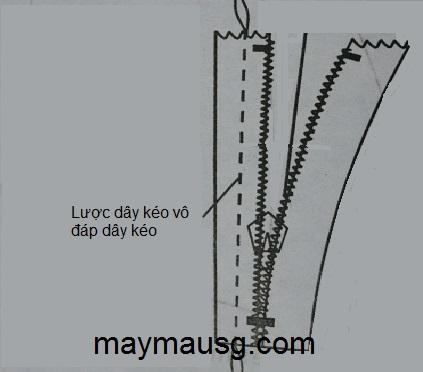 Hướng dẫn tra dây kéo thường