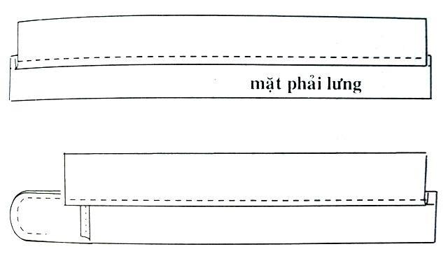 Hướng dẫn may lưng quần tây kiểu 2 (lưng mỹ)