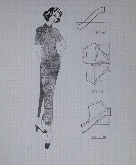Công thức cắt may áo dài thượng hải