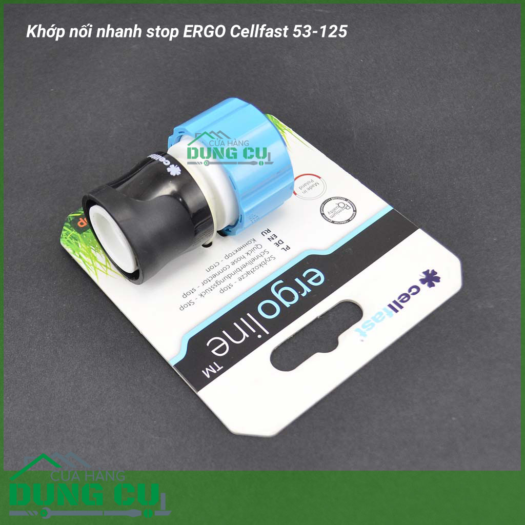 Khớp nối nhanh stop ERGO Cellfast 53-125