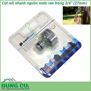 Cút nối ren trong Ideal Line Plus Cellfast 50-655