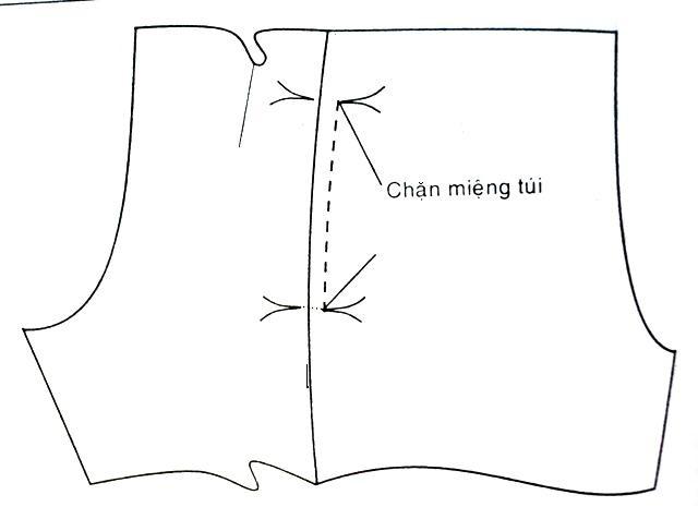 Hướng dẫn may túi dọc kiểu 2