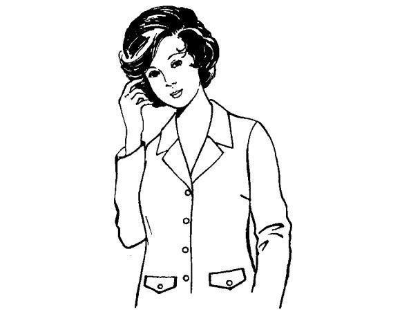 Công thức cắt may áo ráp tay bâu danton
