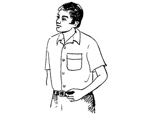 Cắt may áo sơ mi tay ngắn vai liền bâu danton