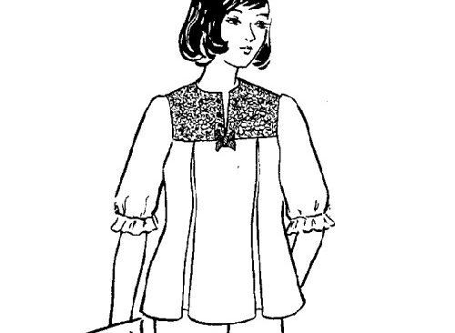 Công thức cắt may áo có cầu ngực vai tay phồng