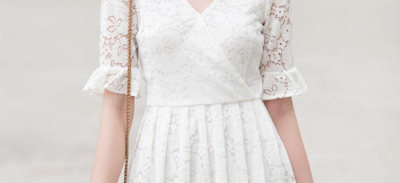 Cắt may váy có đường ráp vòng chân ngực