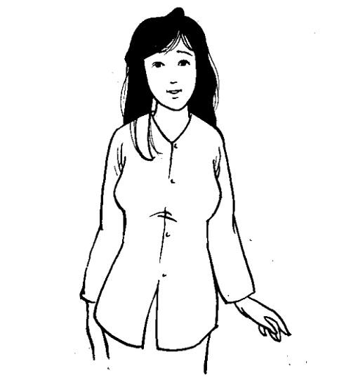 Cắt may áo tay ráp căn bản nách cong có chiết ngực