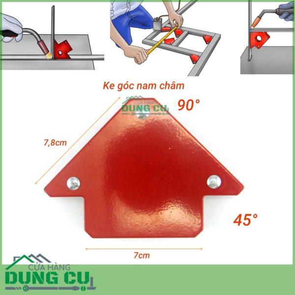 Ke góc nam châm cho thợ hàn lực hút 12Kg (45°,90°)