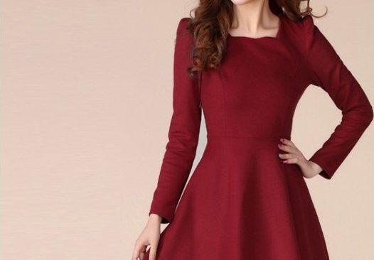 Công thức cắt may váy liền thân có ráp đáy