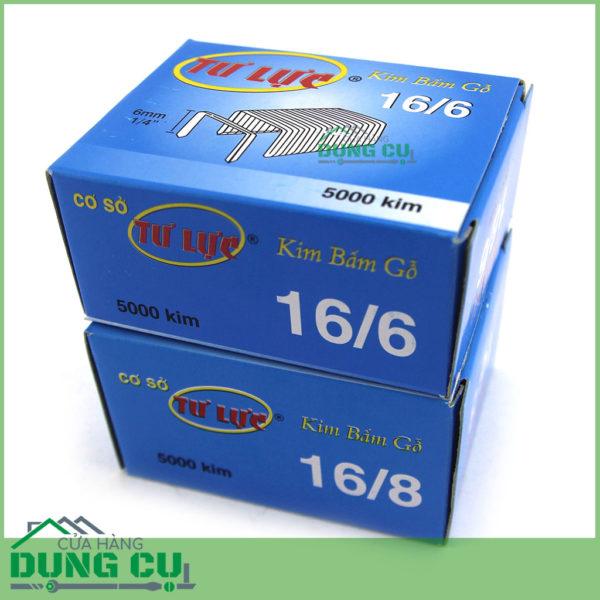 Bộ 2 hộp ghim bấm gỗ 16/6 và 16/8 với 5000 kim mỗi loại