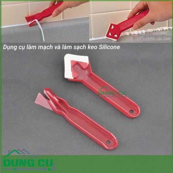 Bộ 2 dụng cụ miết mạch silicone và làm sạch keo silicone