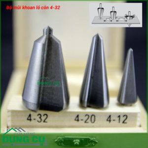 Bộ 3 mũi khoan lỗ con 4-32mm