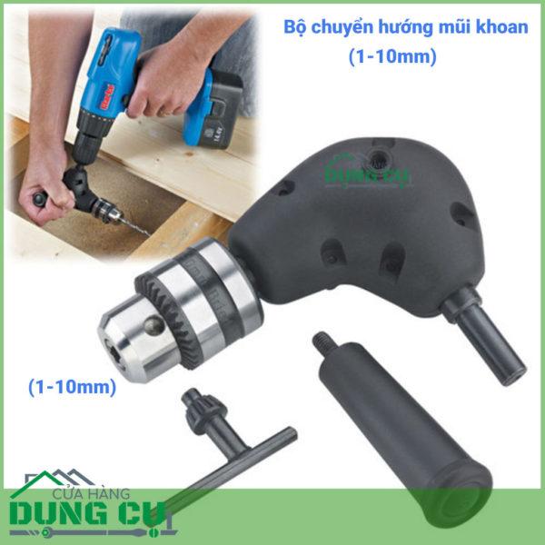 Bộ chuyển hướng mũi khoan mũi vít góc lắp máy khoan 1-10mm