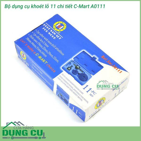 Bộ dụng cụ khoét lỗ 11 chi tiết C-Mart A0111