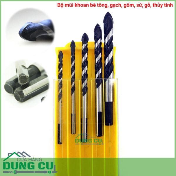 Bộ 5 mũi khoan đa năng mũi thép Tungsten 5-10.5mm