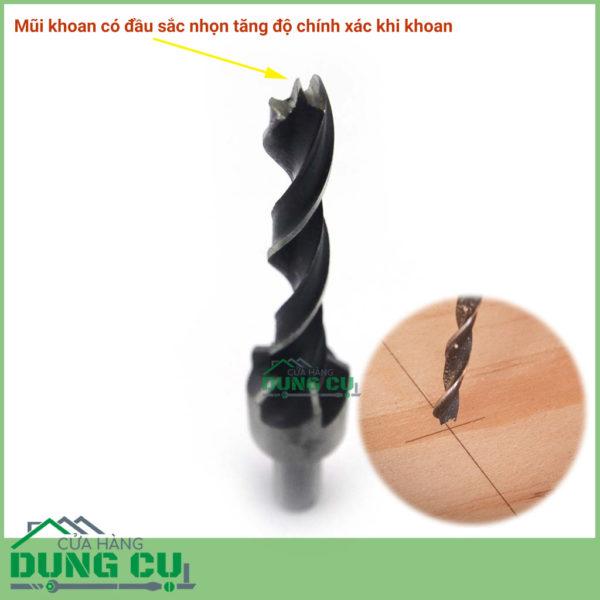 Bộ 7 mũi khoan gỗ bắt âm mũ vít 3 – 10 mm thép gió 4241