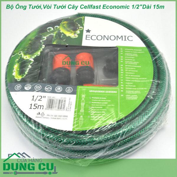 Trọn Bộ Ống Tưới,Vòi Tưới Cây Cellfast Economic 1/2″Dài 15m