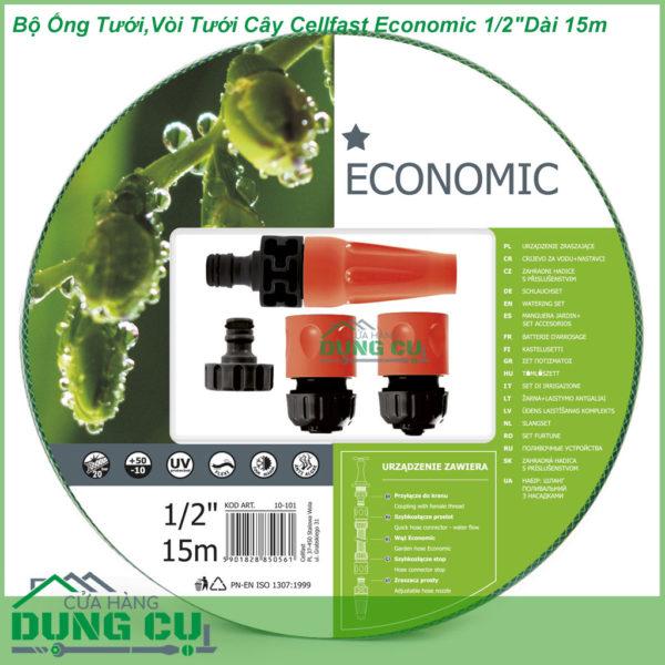 Bộ Ống Tưới,Vòi Tưới Cây Cellfast Economic 1/2″Dài 15m