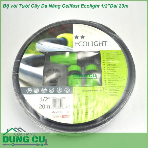 Trọn Bộ Ống Tưới,Vòi Tưới Cây Đa Năng Cellfast Ecolight 1/2″Dài 20m