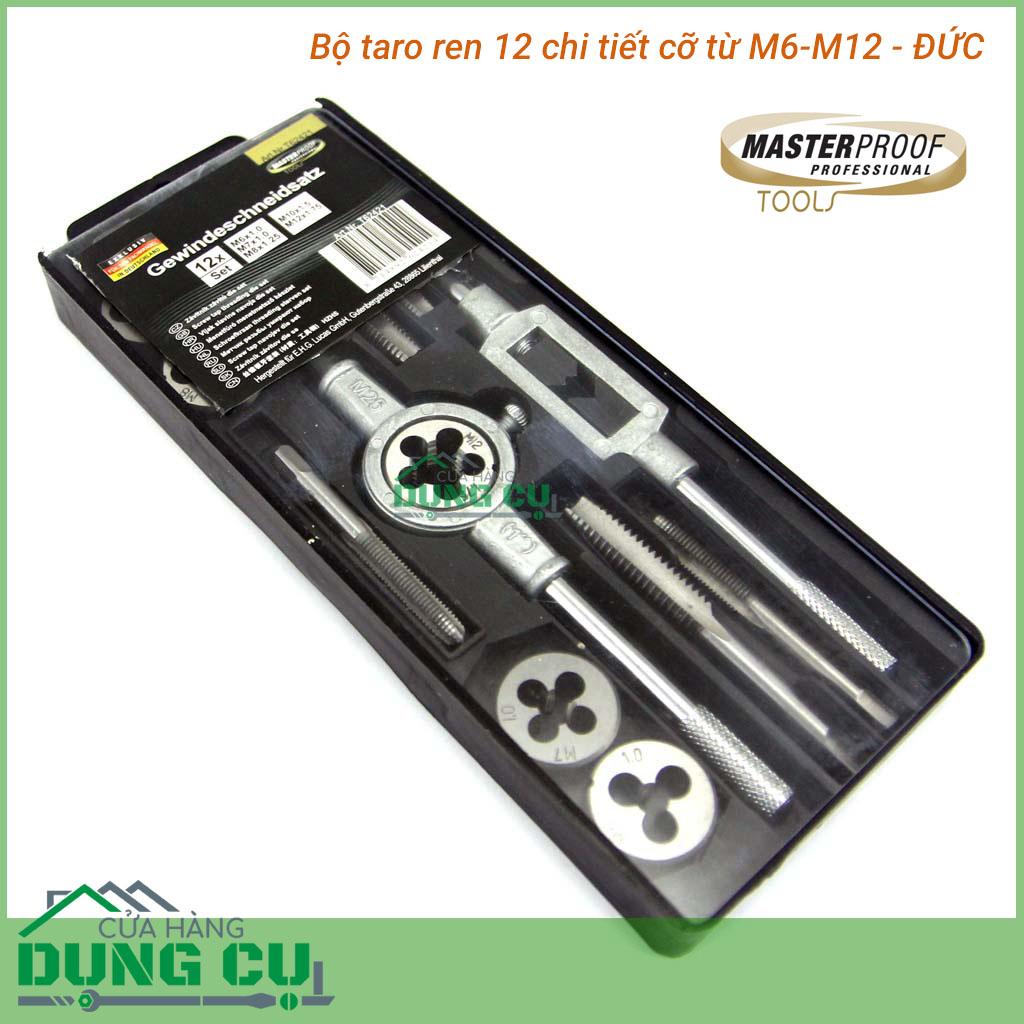 Bộ taro ren trong ngoài 12 chi tiết M6-M12 Masterproof Đức