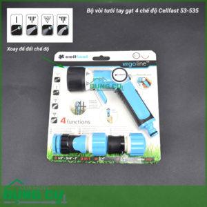 Bộ vòi tưới tay gạt 4 chế độ Cellfast 53-535