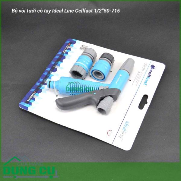 """Bộ vòi tưới cò tay Ideal Line Cellfast 1/2"""" 50-715"""