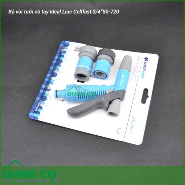 """Bộ vòi tưới cò tay Ideal Line Cellfast 3/4""""50-715"""