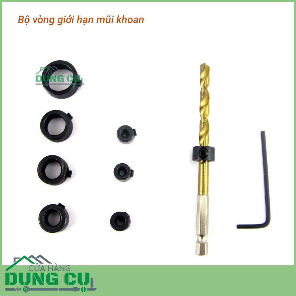 Bộ 8 vòng giới hạn mũi khoan 3-16mm