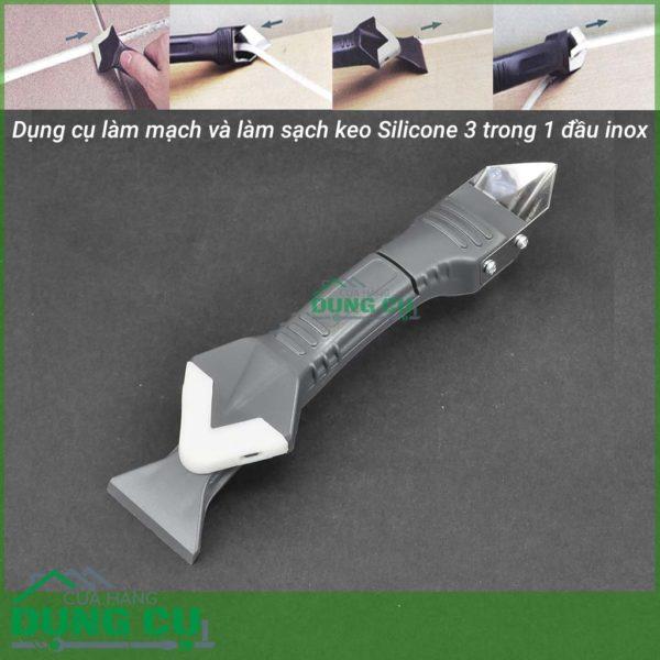 Dụng cụ làm mạch và vuốt keo silicone 3 trong 1