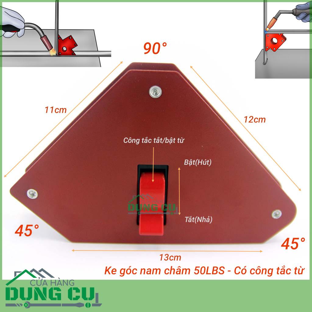 Ke góc nam châm có công tắc tắt bật từ lực hút 25Kg (50LBS)
