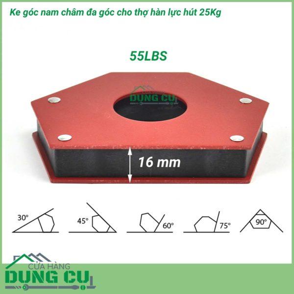 Ke góc nam châm đa giác lực hút 25kg – 55lbs
