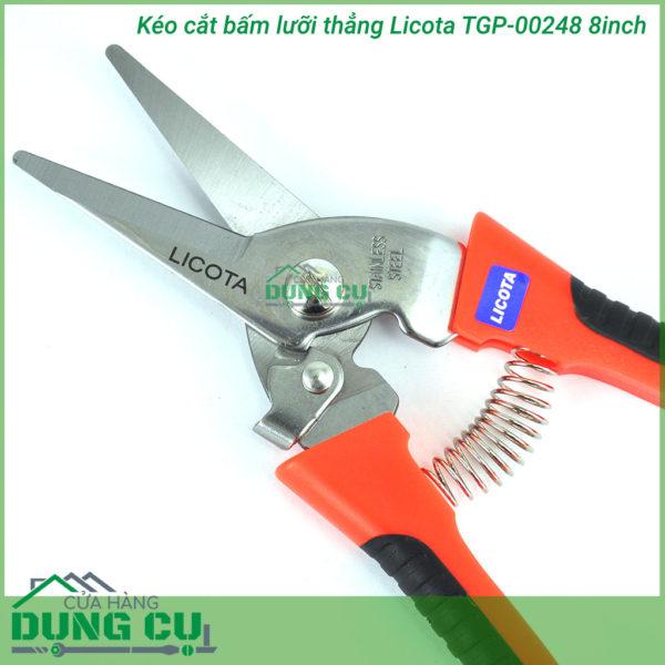 Kéo cắt bấm lưỡi thẳng Licota TGP-00248 8inch