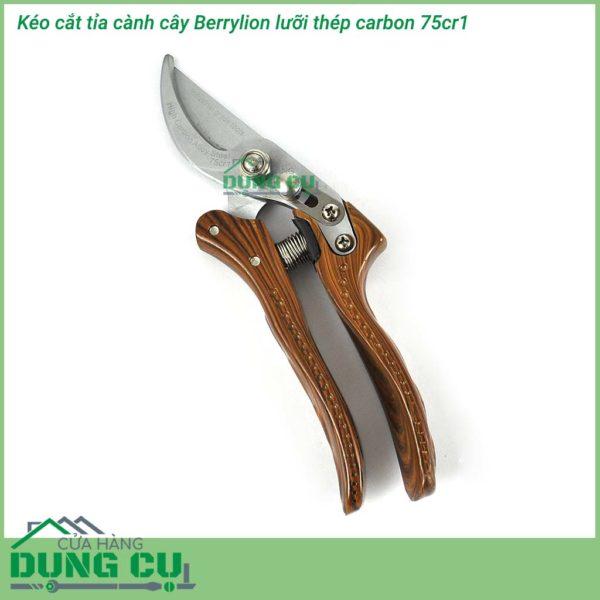 Kéo cắt tỉa cành cây Berrylion thép SK5 độ cứng 60 HRC