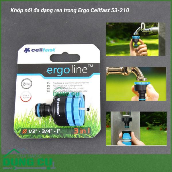 Khớp nối đa dạng ren trong Ergo Cellfast 53-210