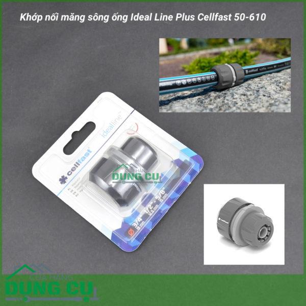 Cút nối măng sông ống Ideal Line Plus Cellfast 50-610