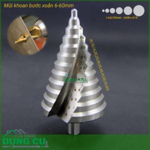 Mũi khoan tháp 6-60mm bạc