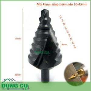 Mũi khoan tháp thấm nitơ 10-45mm chuôi tròn