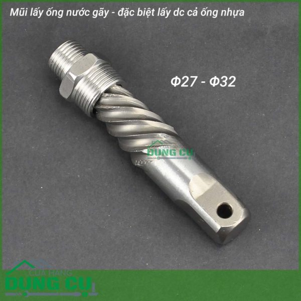 Dụng cụ tháo đầu ống nước gãy, ống kim loại, ống nhựa Φ27- Φ32