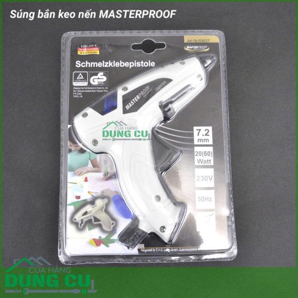 Súng bắn keo nến cao cấp ống phun 2mm dùng keo 7.2mm Masterproof