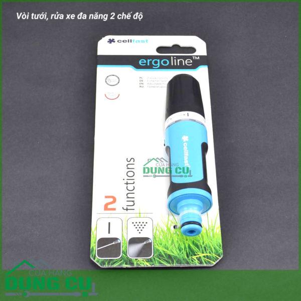Vòi tưới rửa đa năng 2 chế độ Cellfast 53-300