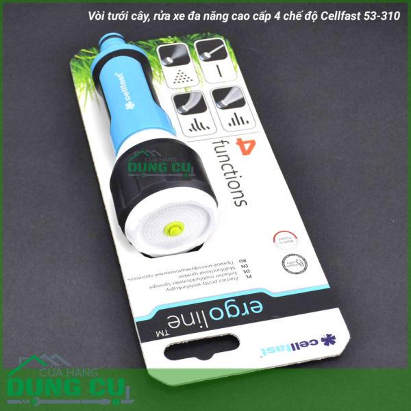 Vòi tưới cây, rửa xe đa năng cao cấp 4 chế độ Cellfast 53-310