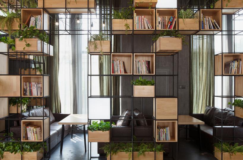 Thiết kế quán cà phê thiên nhiên xanh