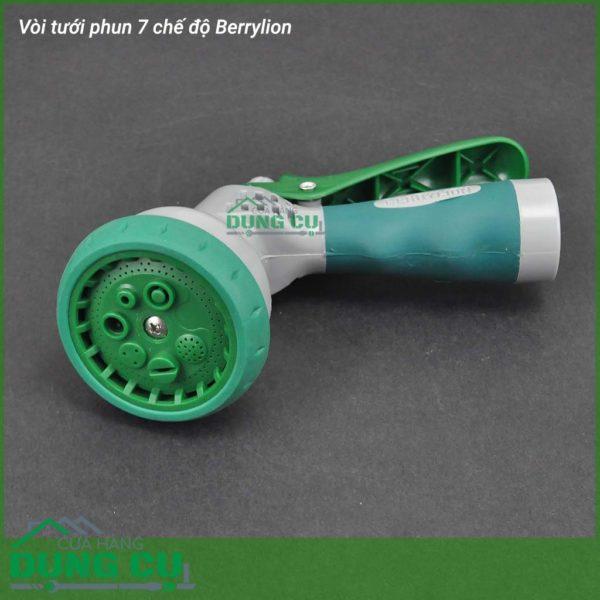 Bộ đầu tưới, xịt, rửa 7 chế độ Berrylion