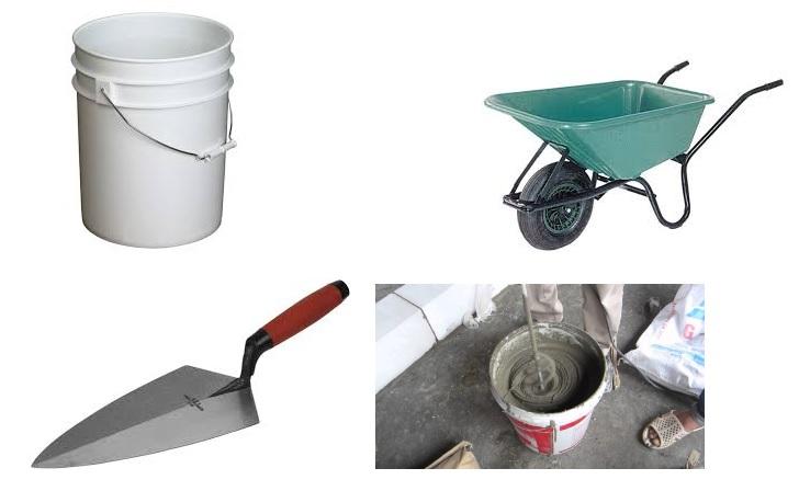 Vữa, cách trộn vữa xây